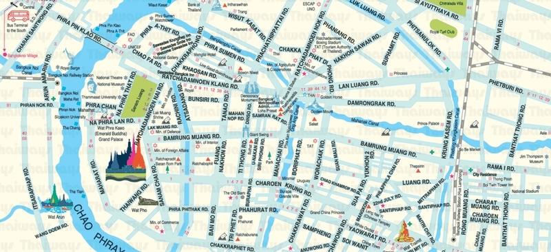 Zonas y mapas de Bangkok1